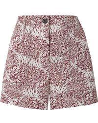 By Malene Birger Danise Printed Cotton-poplin Shorts - Multicolour