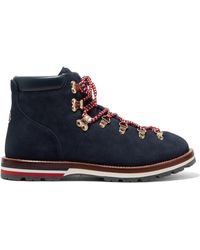 Moncler - Blanche Shearling-lined Suede Ankle Boots - Lyst