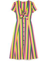 264d407c830 STAUD - Robe Nouée Sur Le Devant En Popeline De Coton Stretch À Rayures  Alice -