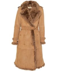 Burberry | Tolladine Shearling Trench Coat | Lyst