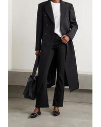NINETY PERCENT + Net Sustain Organic Cotton-blend Jersey Flared Trousers - Black