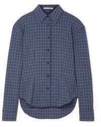 Acne Studios Sovilla Checked Oxford Shirt - Blue