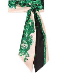 Fendi   Printed Silk-twill Scarf   Lyst