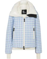 Moncler Grenoble - Mufule Checked Embroidered Quilted Glossed-shell Down Jacket - Lyst