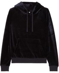 Vetements - Crystal-embellished Velour Hooded Top - Lyst
