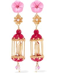 Of Rare Origin - Aviary Gold Vermeil Multi-stone Earrings - Lyst
