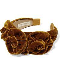 Jennifer Behr Triple Rosette Velvet Headband - Multicolour
