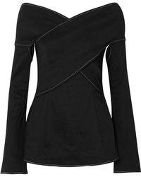 Beaufille - Prima Off-the-shoulder Stretch Linen-blend Blouse - Lyst