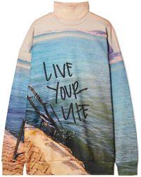 Marques'Almeida - Oversized Printed Jersey Turtleneck Sweatshirt - Lyst