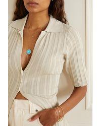 Jennifer Meyer 18-karat Gold, Turquoise And Diamond Necklace - Metallic