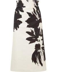 Dries Van Noten - Printed Midi Skirt - Lyst
