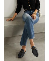 Gucci Princetown Slippers Aus Leder Mit Horsebit-detail - Schwarz
