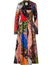Rosie Assoulin - Printed Cotton-velvet Coat - Lyst