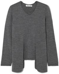 Comme des Garçons Layered Wool Sweater - Gray