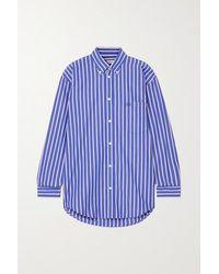 Balenciaga - Gestreiftes Oversized-hemd Aus Baumwollpopeline - Lyst