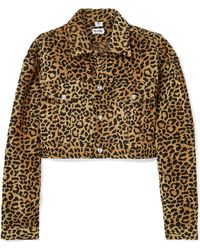 RE/DONE - Cropped Leopard-print Velvet Jacket - Lyst