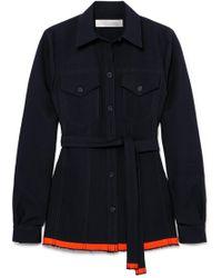 Victoria, Victoria Beckham - Belted Wool-twill Shirt - Lyst