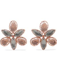 Larkspur & Hawk - Sadie Orchid Rose Gold-dipped Quartz Earrings - Lyst