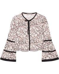 Lela Rose - Grosgrain-trimmed Corded Lace Jacket - Lyst