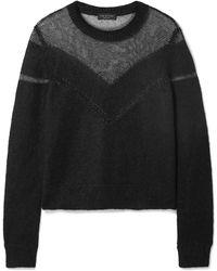 Rag & Bone - Blaze Panelled Open-knit Jumper - Lyst