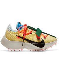 Nike + Off-white Vapor Street Sneakers Aus Ripstop, Veloursleder, Mesh Und Gummi - Gelb
