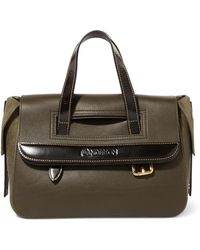 JW Anderson - Tool Mini Textured-leather And Nubuck Tote - Lyst