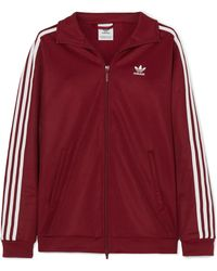adidas Originals - Bb Striped Cotton-blend Jersey Jacket - Lyst