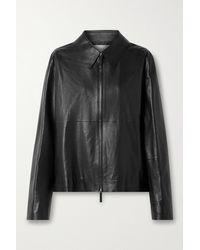 The Row Kabbe Leather Jacket - Black