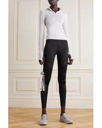 adidas Originals Legging En Tissu Recyclé Stretch À Empiècements En Résille Hyperglam - Noir