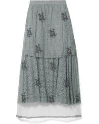 Stella McCartney - Embellished Lace High-low Skirt - Lyst