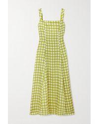 De La Vali Bandana Polka-dot Recycled Twill Dress - Green