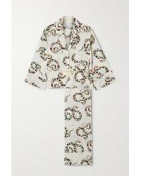 Desmond & Dempsey Pyjama En Coton Biologique Imprimé India - Multicolore