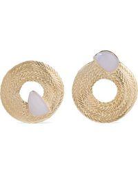 Stvdio Colette Gold-tone Chalcedony Earrings - Metallic
