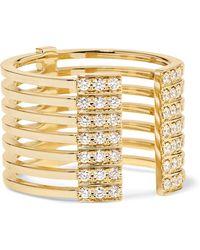 Melissa Kaye - Izzy 18-karat Gold Diamond Ring - Lyst