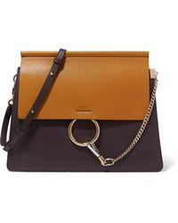 Chloé - Faye Medium Two-tone Leather Shoulder Bag - Lyst