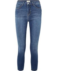 L'Agence - Margot Cropped High-rise Skinny Jeans - Lyst