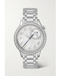 Vacheron Constantin Egérie Automatic 35mm Stainless Steel And Diamond Watch - Metallic