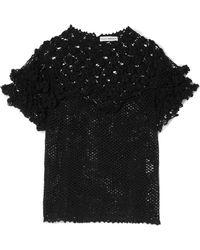 Ulla Johnson - Mirella Crocheted Pima Cotton Top - Lyst