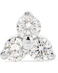 Maria Tash - Trinity 18-karat White Gold Diamond Earring - Lyst