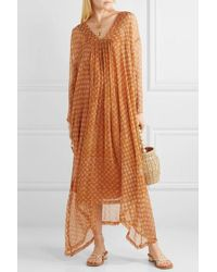 Cloe Cassandro Gabriella Printed Silk-crepon Kimono - Orange