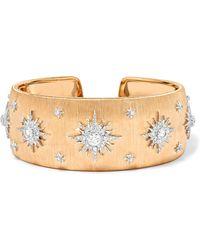 Buccellati - 18-karat Gold Diamond Cuff - Lyst