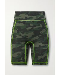 All Access Centre Stage Camouflage-print Stretch Shorts - Green