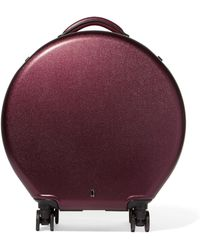 OOKONN Leather-trimmed Hardshell Suitcase - Multicolor