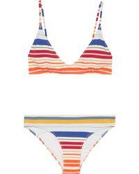 Stella McCartney | Striped Triangle Bikini | Lyst