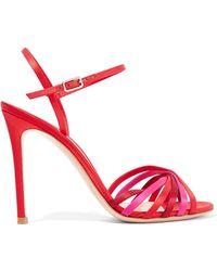 Gianvito Rossi | Dalida 100 Color-block Satin Sandals | Lyst