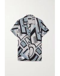 retroféte Greda Sequin-embellished Printed Silk-blend Shirt - White