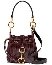 See By Chloé Tony Small Snake-effect Leather Bucket Bag - Multicolour