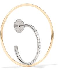 Charlotte Chesnais - Saturn 18-karat Gold Diamond Hoop Earring - Lyst
