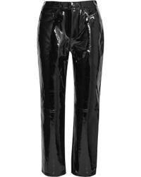 Rag & Bone | Patent-leather Straight-leg Trousers | Lyst