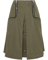 JW Anderson - Zip-detailed Twill Midi Skirt - Lyst